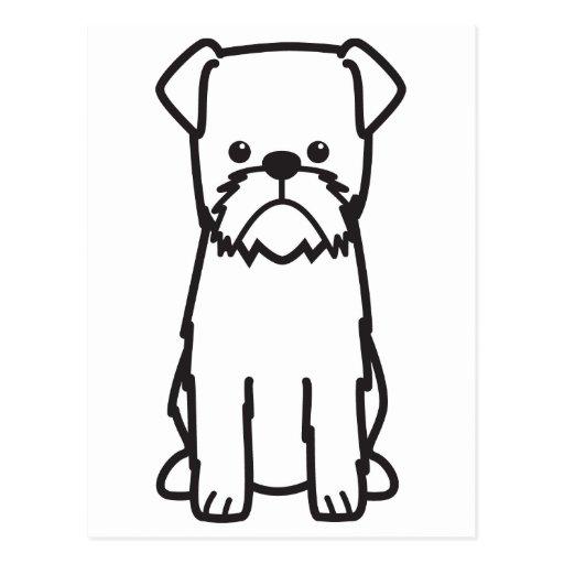Dibujo animado del perro de Bruselas Griffon Postales