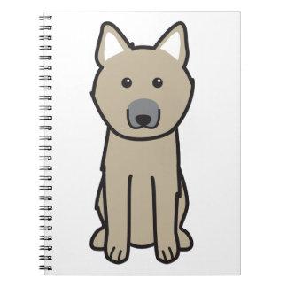 Dibujo animado del perro de Buhund del noruego Cuaderno