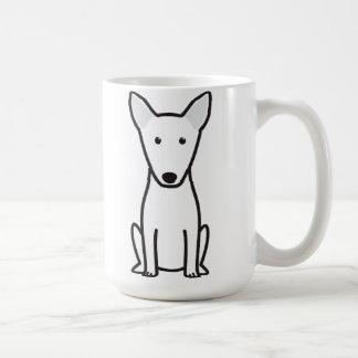 Dibujo animado del perro de bull terrier taza básica blanca