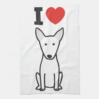 Dibujo animado del perro de bull terrier toallas de mano