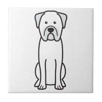 Dibujo animado del perro de Bullmastiff Tejas