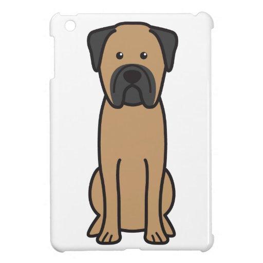 Dibujo animado del perro de Bullmastiff iPad Mini Funda