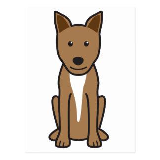Dibujo animado del perro de Canaan Postal
