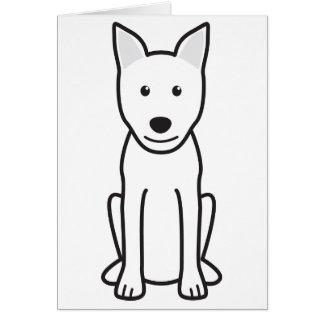 Dibujo animado del perro de Canaan Tarjeta Pequeña