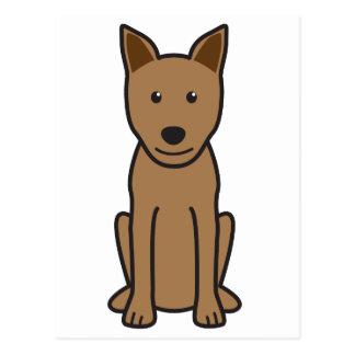Dibujo animado del perro de Canaan Tarjetas Postales