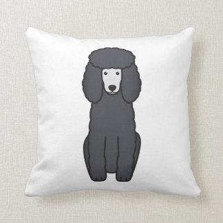 Dibujo animado del perro de caniche almohada