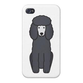 Dibujo animado del perro de caniche iPhone 4 cárcasas