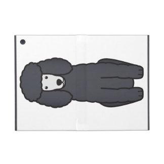 Dibujo animado del perro de caniche iPad mini carcasas