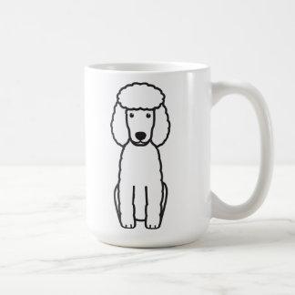 Dibujo animado del perro de caniche miniatura taza básica blanca