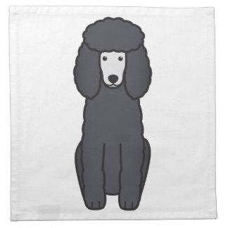 Dibujo animado del perro de caniche servilleta imprimida