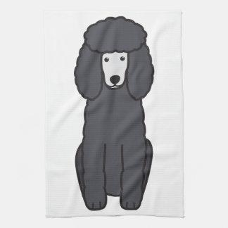 Dibujo animado del perro de caniche toallas