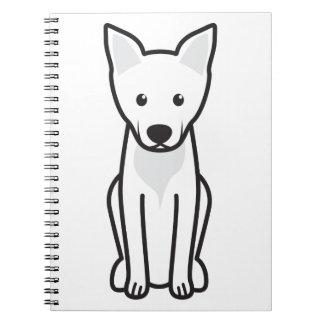 Dibujo animado del perro de Carolina Libros De Apuntes