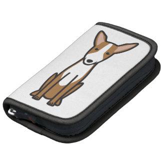 Dibujo animado del perro de caza de Ibizan Organizadores