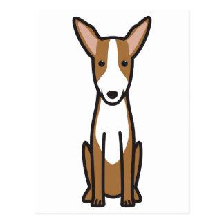 Dibujo animado del perro de caza de Ibizan Tarjeta Postal