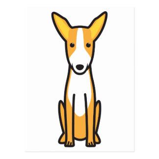 Dibujo animado del perro de caza de Ibizan Postal