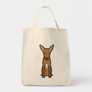 Dibujo animado del perro de caza del Pharaoh Bolsa Tela Para La Compra