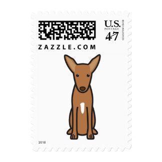 Dibujo animado del perro de caza del Pharaoh Timbres Postales
