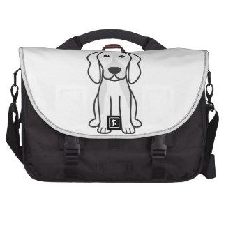 Dibujo animado del perro de Chien Français Tricolo Bolsas Para Portatil