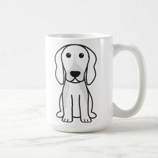 Dibujo animado del perro de Chien Français Tricolo Tazas De Café