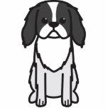 Dibujo animado del perro de Chin del japonés Esculturas Fotográficas