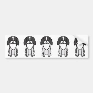 Dibujo animado del perro de Chin del japonés Pegatina Para Auto