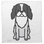 Dibujo animado del perro de Chin del japonés Servilletas De Papel