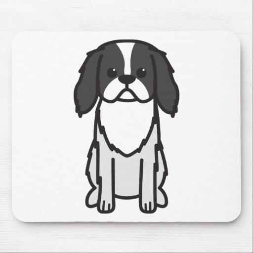 Dibujo animado del perro de Chin del japonés Tapetes De Ratones