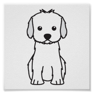 Dibujo animado del perro de Cockapoo Póster