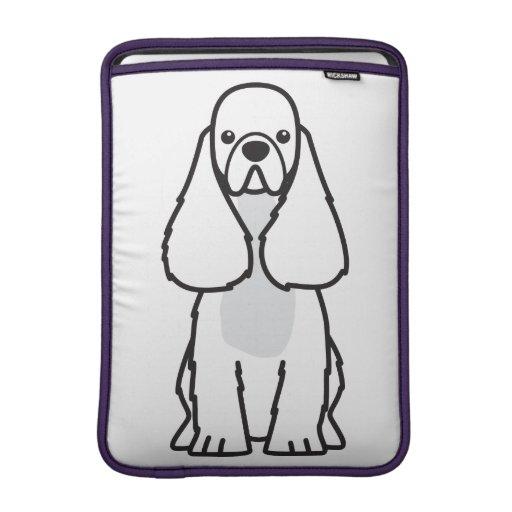 Dibujo animado del perro de cocker spaniel del ame fundas para macbook air