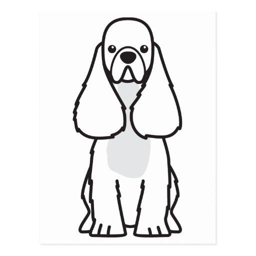 Dibujo animado del perro de cocker spaniel del ame tarjeta postal
