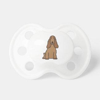 Dibujo animado del perro de cocker spaniel del chupete