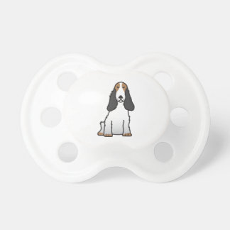 Dibujo animado del perro de cocker spaniel del chupete de bebé