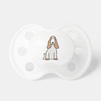 Dibujo animado del perro de cocker spaniel del chupetes para bebes