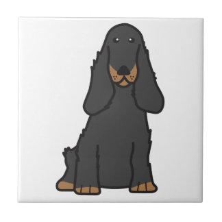 Dibujo animado del perro de cocker spaniel del ing tejas  cerámicas