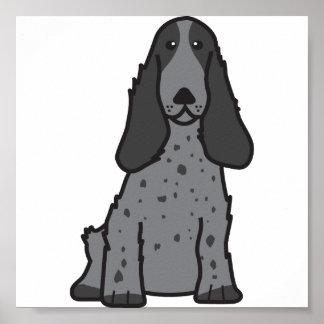 Dibujo animado del perro de cocker spaniel del ing póster