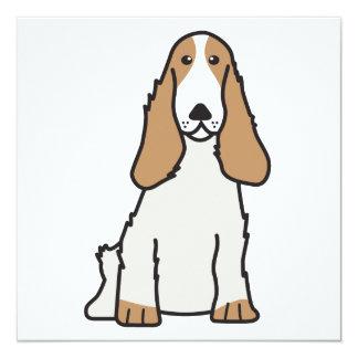 """Dibujo animado del perro de cocker spaniel del invitación 5.25"""" x 5.25"""""""
