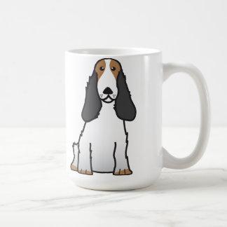 Dibujo animado del perro de cocker spaniel del taza clásica