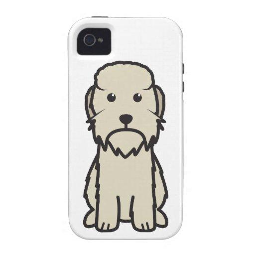 Dibujo animado del perro de Dandie Dinmont Terrier iPhone 4 Carcasa