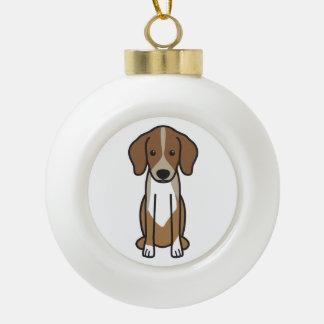 Dibujo animado del perro de Dunker Adorno De Cerámica En Forma De Bola