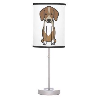 Dibujo animado del perro de Dunker Lámpara De Mesilla De Noche