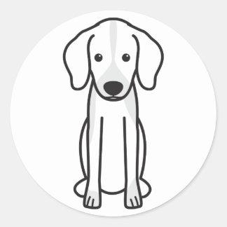 Dibujo animado del perro de Dunker Pegatina Redonda