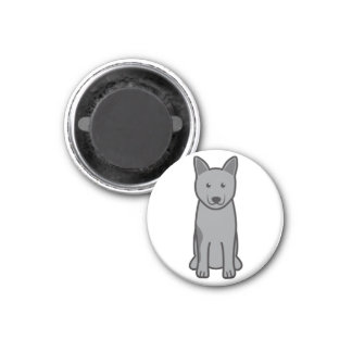 Dibujo animado del perro de Elkhound del noruego Imán Para Frigorífico