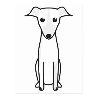 Dibujo animado del perro de Galgo Español Postal