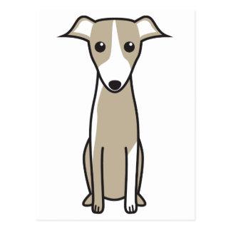 Dibujo animado del perro de Galgo Español Tarjeta Postal
