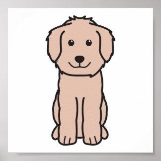 Dibujo animado del perro de Goldendoodle Póster