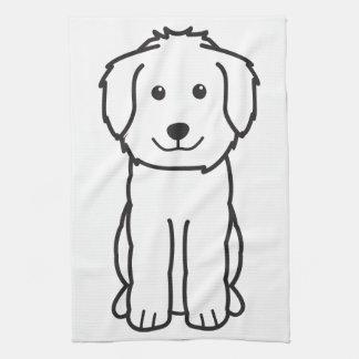Dibujo animado del perro de Goldendoodle Toalla De Mano