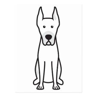 Dibujo animado del perro de great dane postal