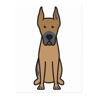 Dibujo animado del perro de great dane tarjetas postales