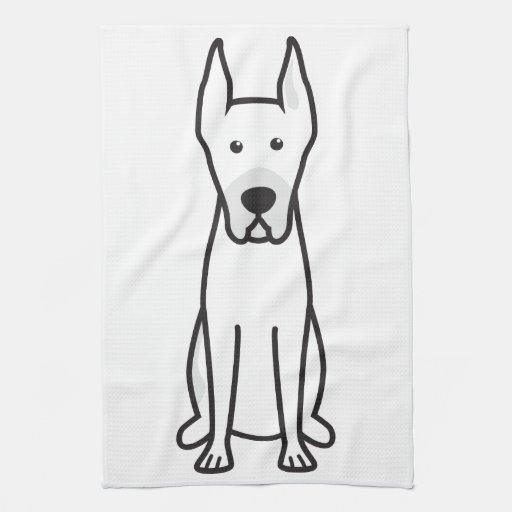 Dibujo animado del perro de great dane toalla