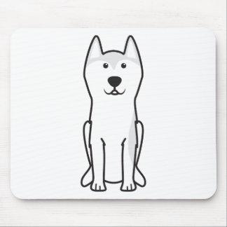 Dibujo animado del perro de Groenlandia Alfombrilla De Ratón